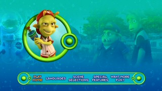 Eckle, the film's youngest character, gets his moment on the DVD's animated main menu loop.