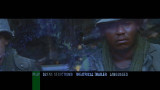 The DVD included here is from 2000, when main menus started to get exciting, as this fade from Forest Whitaker to jungle clearly is.