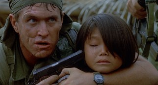 The indefensible actions of prominently scarred Staff Sergeant Barnes (Tom Berenger) in a peasant village escalate tensions already running high in Bravo Company.