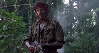 "In one of several ways ""Platoon"" reminding us of his father's ""Apocalypse Now"" from seven years earlier, Charlie Sheen seems to lose his mind while preparing to terminate with extreme prejudice in the closing moments."