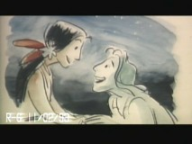 "Pocahontas and John Smith meet up for a little nighttime serenading in the deleted song ""In the Middle of the River."""