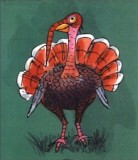 Conceptual art for Redfeather, a turkey character deleted during the film's production.