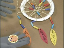"You too can make a neat-looking dreamcatcher like this in ""Disney's Art Project."""