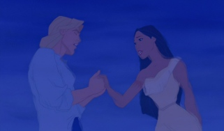 "John Smith and Pocahontas share a song together in the newly-restored ""If I Never Knew You."""