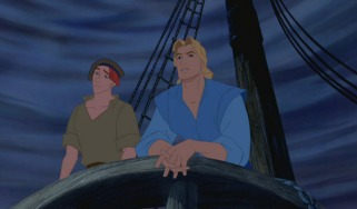Thomas and John Smith look ahead to the New World.