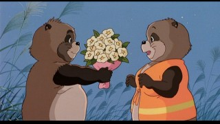 Shokichi offers a bouquet to his Love One, Kiyo.