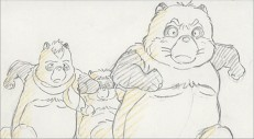 Shokichi and friends make a rescue attempt in this sketch from Disc 2's storyboard version.