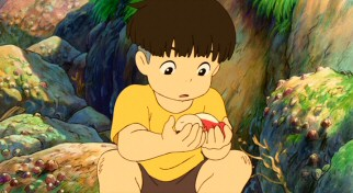 Five-year-old schoolboy Sosuke rescues a goldfish he names Ponyo.