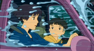 Lisa and Sosuke try to drive through the torrential downpour that's befallen their coastal hometown.