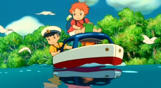 Sosuke and Ponyo respond to the floods the way most 5-year-olds would: she enlarges a toy boat into a fully functional one and they set sail.