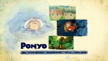 The main menu of Ponyo's primary DVD is tasteful and serene.