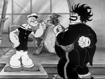 "Pluto and a bouffant-topped Bluto are competing orchestra conductors in ""The Spinach Overture."""