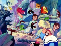 With his obedient beasts in the wings, Sindbad Bluto is confident in his chances against Popeye the Sailor.