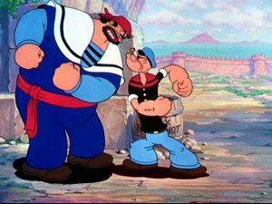 Holding two of the Fleischers' three 2-reel Technicolor Popeye shorts, this set gives Bluto a chance to play a fierce Arabian foe twice.