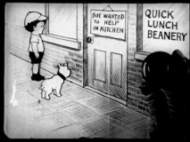 "Bobby Bumps and his dog Fido accept employment in a diner kitchen in Disc 2's Bray Studio short ""Bobby Bumps Puts a Beanery on the Bum."""