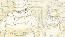 A still from Disc 2's storyboard version of the film.