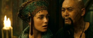 Despite believing Elizabeth (Keira Knightley) to be a goddess, Sao Feng (Chow Yun-Fat) is awfully carnal towards her.
