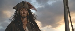 Johnny Depp makes his first appearance as the charming Jack Sparrow.