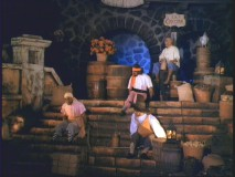 "Audio-animatronic characters seen in ""Spirit of the Ride."""