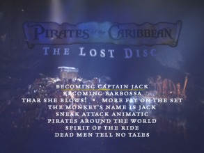 The Lost Disc's Menu