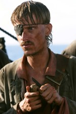 "Mackenzie Crook (BBC's ""The Office"") once again portrays Ragetti, the pirate with the glass right eye."