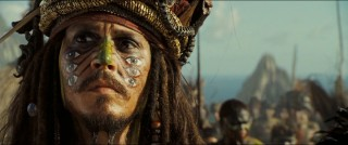 Captain Jack Sparrow (Johnny Depp) looks a little different when Will catches up with him.