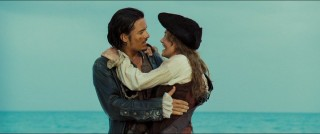 "Will Turner (Orlando Bloom) and Elizabeth Swann (Keira Knightley) are the central lovers of ""Pirates of the Caribbean: Dead Man's Chest."""