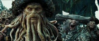He's no Monkee... Davy Jones (Bill Nighy) rules over the ocean with a claw, some tentacles, and a hammerhead shark henchman.