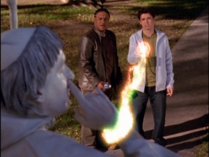"Phil deals with a fellow Wizard-wielding ""friend"" from the future (played by Orlando Brown) in the previously unaired ""Team Diffy."""