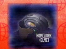 An informative sales pitch on the Homework Helmet, from the Cyber Catalogue supplement.