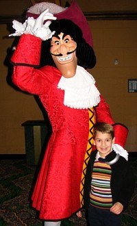 Captain Hook poses with the author's son.