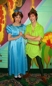 Wendy Darling and Peter Pan (the real ones) were among the crowd.