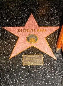 Disneyland has a star on the Hollywood Walk of Fame.
