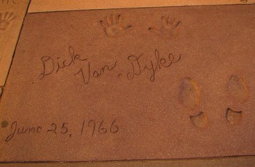 The hand and footprints of the legendary Dick Van Dyke are among many sets which adorn the cement outside Grauman's Chinese Theatre in Hollywood.