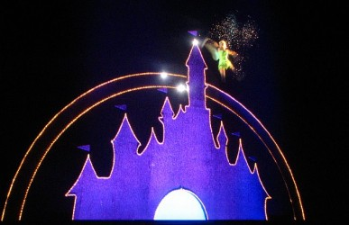 Before the movie started, Tinker Bell made a personal appearance and spread some of her world-famous pixie dust around.