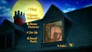 Disc 1's animated Main Menu utilizes shadows, a recurring element in the film.