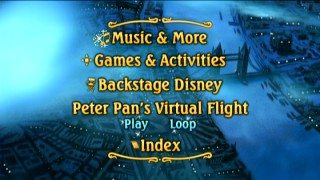 Disc 2's Main Menu takes us to the skies above London, a recurring setting for this platter's bonuses.