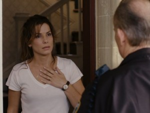 Linda Hanson (Sandra Bullock) learns that her husband is dead... for now.