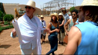 "Director Mike Newell takes the cast (including leads Gyllenhaal and Arterton -- spot 'em!) on a tour of the locations building built for their movie in ""An Unseen World."""
