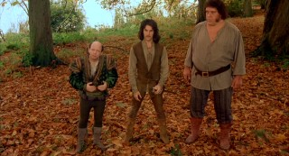 Far too funny to be feared as the threat they're supposed to pose, Vizzini the lisp-addled Sicilian (Wallace Shawn), the vengeful Inigo Montoya (Mandy Patinkin), and Fezzik the rhyme-loving Giant (Andre the Giant) supply the film with many of its most-quoted lines.