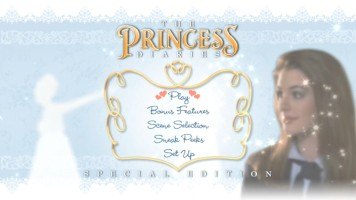 Disc 2 Main Menu of The Princess Diaries: Special Edition