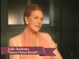"Julie Andrews in the making-of featurette ""A New Princess."""