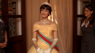 No, that's not Belle and this isn't the live-action remake of Beauty and the Beast. That's Demi Lovato is Princess Rosalinda in Disney Channel's Princess Protection Program.