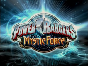 "The ""Power Rangers Mystic Force"" title logo appears at the start of each episode."