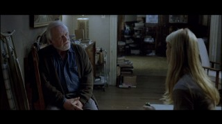Catherine sees dead people (i.e., Anthony Hopkins).
