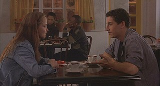Elizabeth and Rafe have a first encounter with each other at the campus caf�.