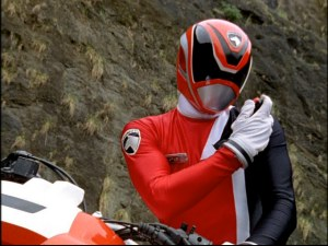 The Red Ranger is the unlikely leader of the group.