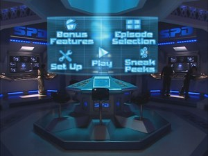 The main menu takes you inside the control room of the S.P.D. Academy.