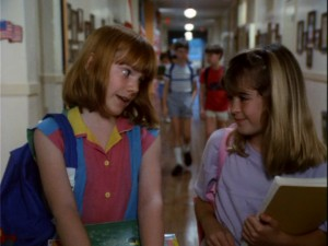 "Nikki Ferris (Carrie Kei Heim) and Mary Grand (Bridgette Andersen) roam through the halls of summer school. Despite the character names, this is not a ""Moon-Spinners""-meets""In Search of the Castaways"" spin-off. It is ""The Parent Trap II."""