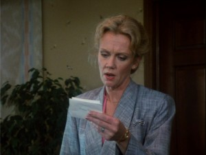 "Susan Ferris (Hayley Mills, all grown-up) gets a ""passionate"" note from Bill Grand."